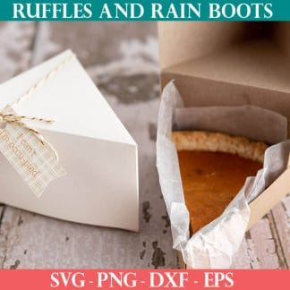 pie slice box cut file set